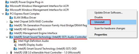 Intel Smart Sound Technology deinstallieren